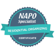 NAPO Specialist Certificate in Residential Organizing