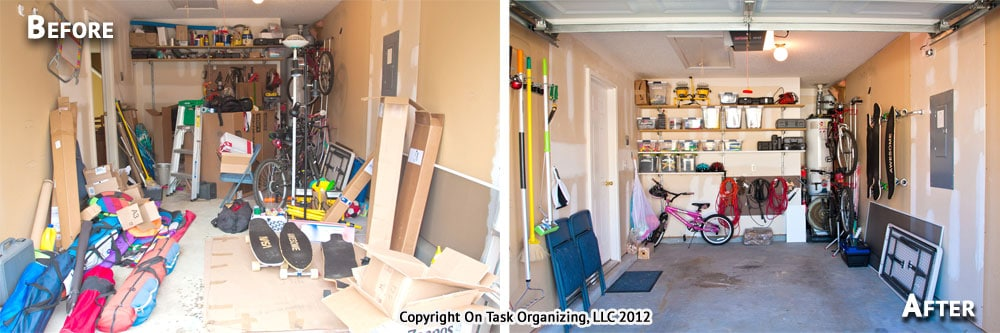Garage Before & After Organizing