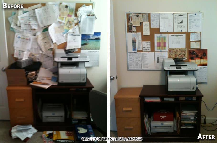 before after photos on task organizing professional