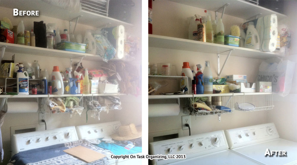 Laundry Room Organization Before And After Photos On