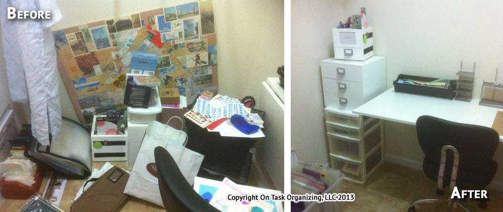 Craft Room Organization Before and After 1000 x 422