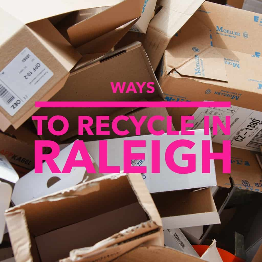 Ways to Recycle in Raleigh, cardboard boxes photo