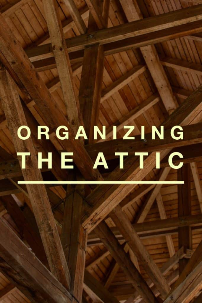 Title page- organizing the attic