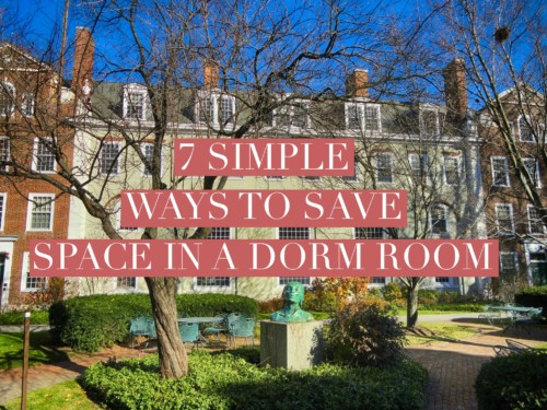 7 Simple Ways to Save Space in a Dorm Room Title