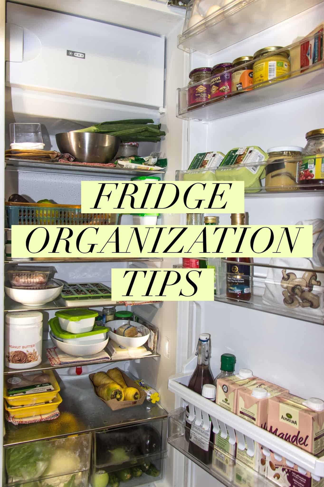 fridge organization tips title