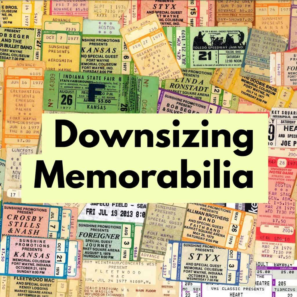 downsizing memorabilia title