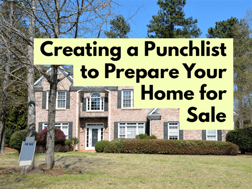 Creating a Punchlist to Prepare Your Home for Sale Title