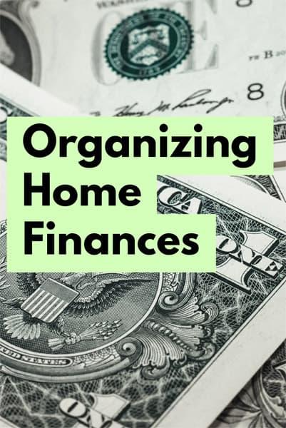 Organizing Home Finances