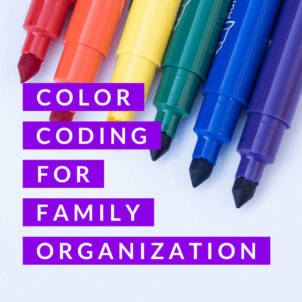 title color coding for family organization